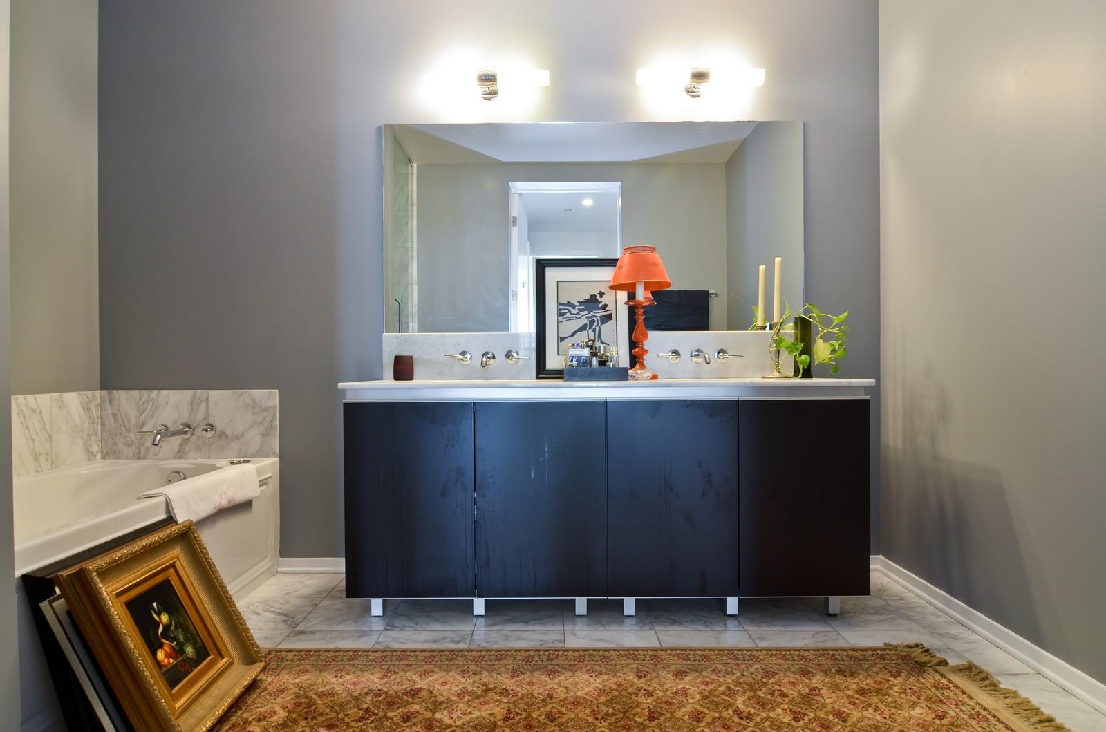 Real Estate Photography - 600 N Fairbanks, Unit 1801, Chicago, IL, 60611 - Master Bathroom