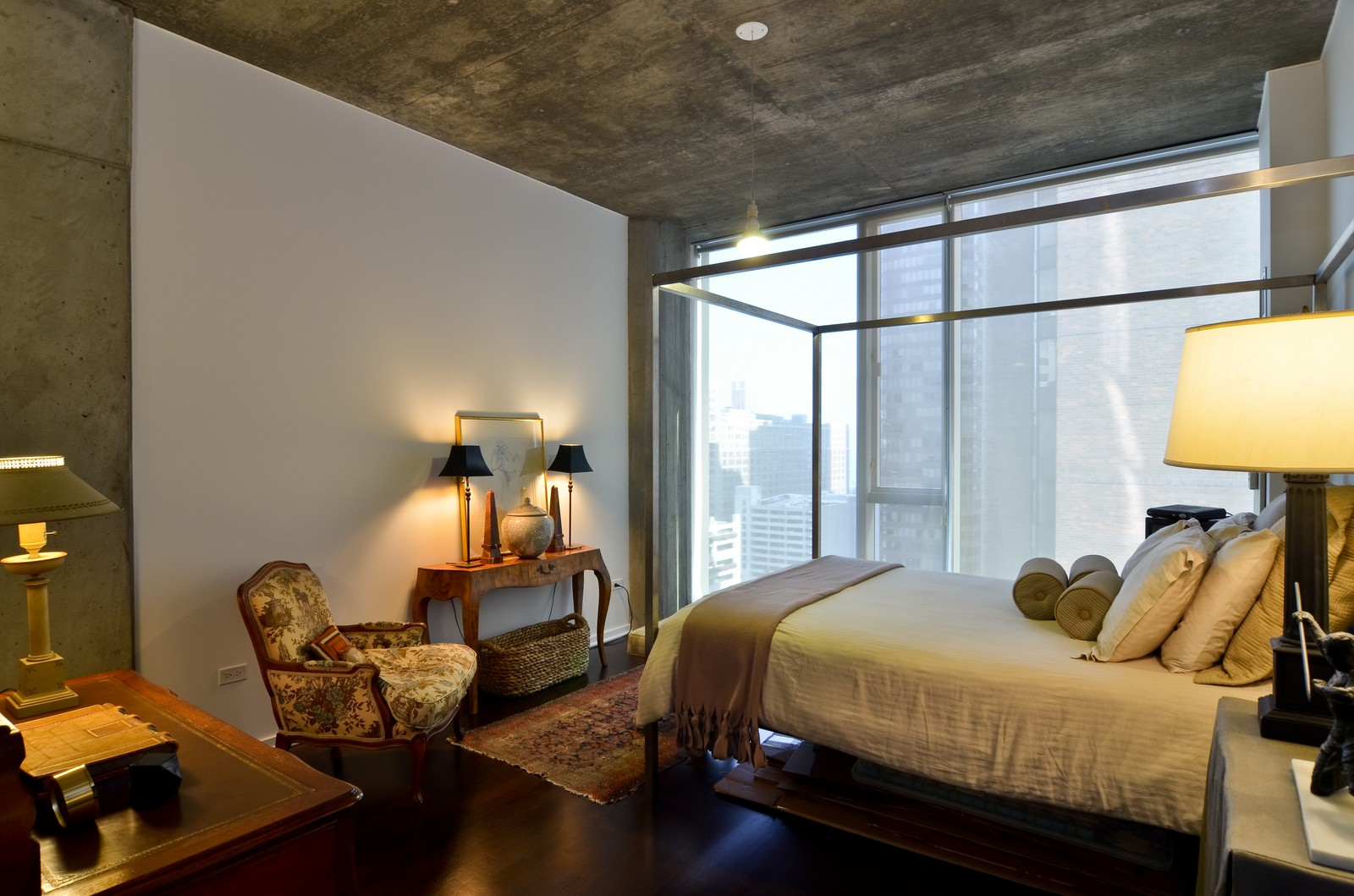 Real Estate Photography - 600 N Fairbanks, Unit 1801, Chicago, IL, 60611 - Master Bedroom