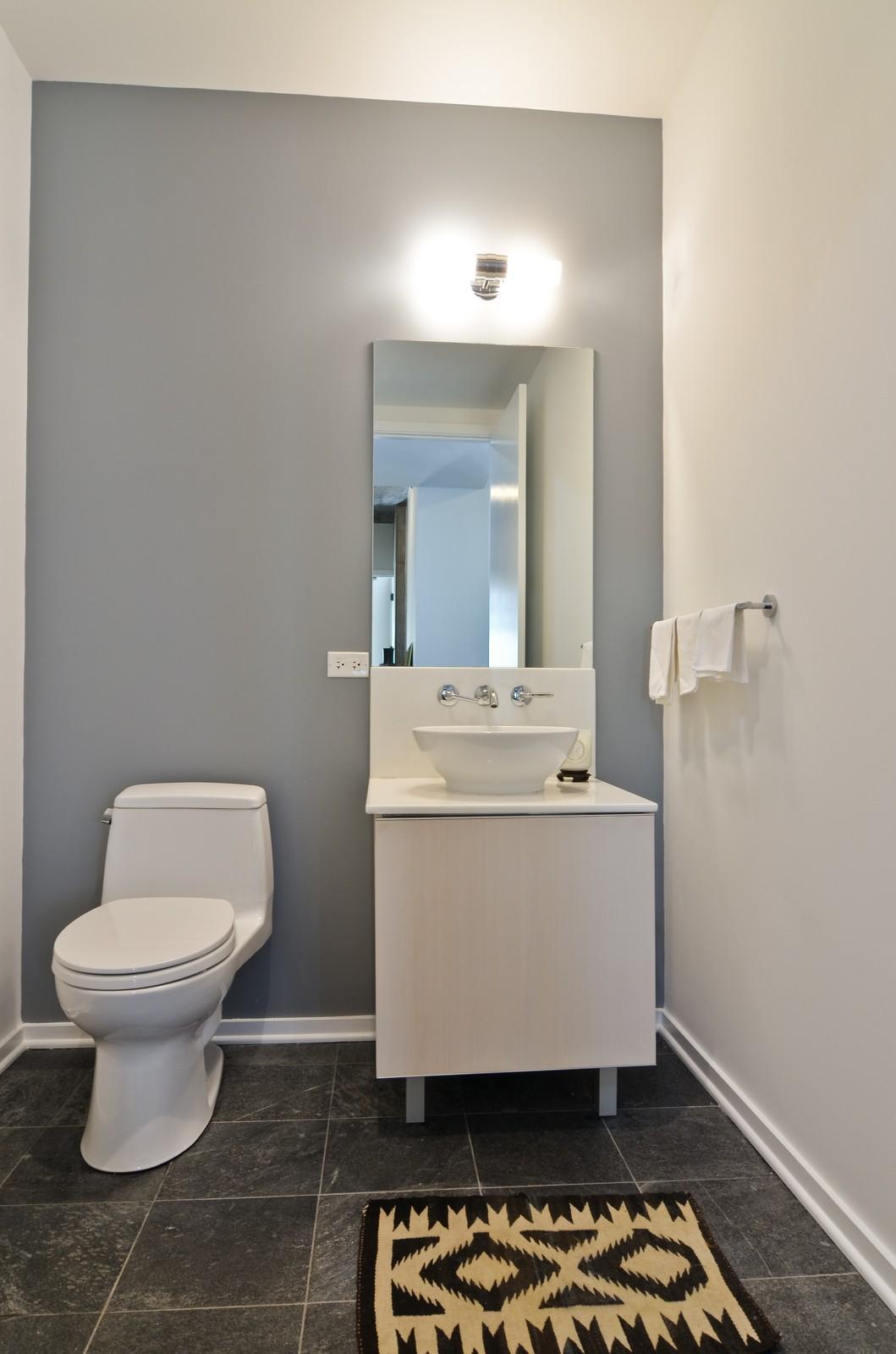 Real Estate Photography - 600 N Fairbanks, Unit 1801, Chicago, IL, 60611 - Half Bath