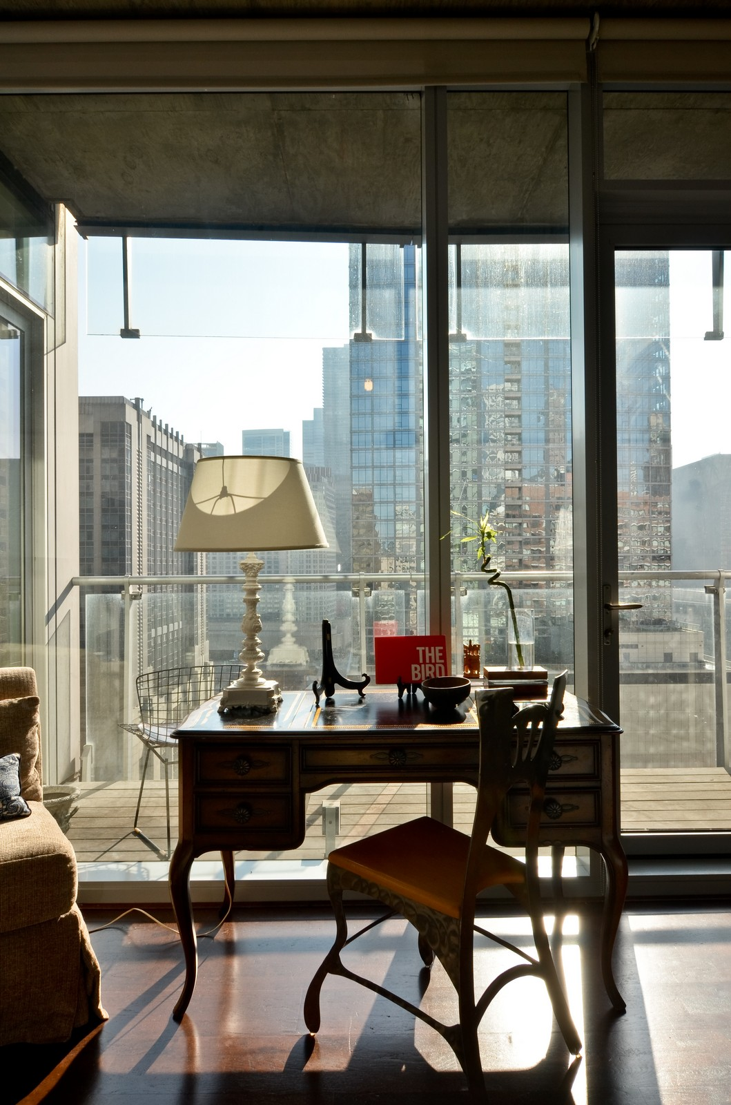 Real Estate Photography - 600 N Fairbanks, Unit 1801, Chicago, IL, 60611 - Balcony