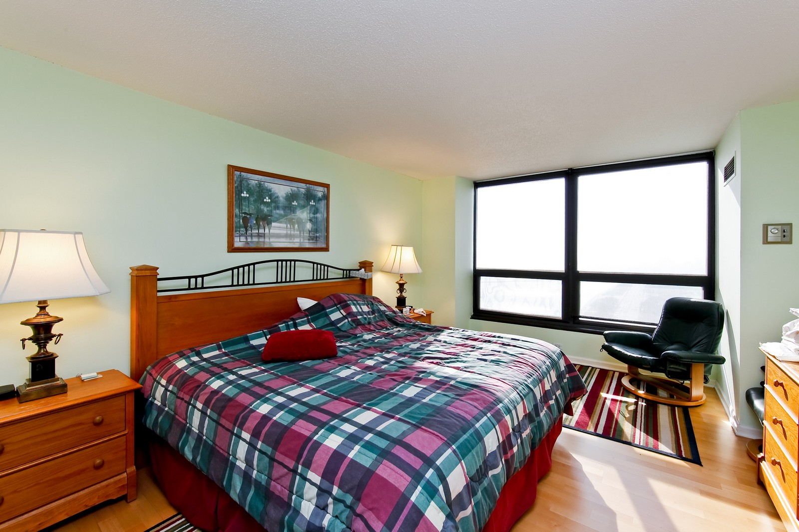 Real Estate Photography - 360 Randolph, Unit 3602, Chicago, IL, 60601 - Master Bedroom