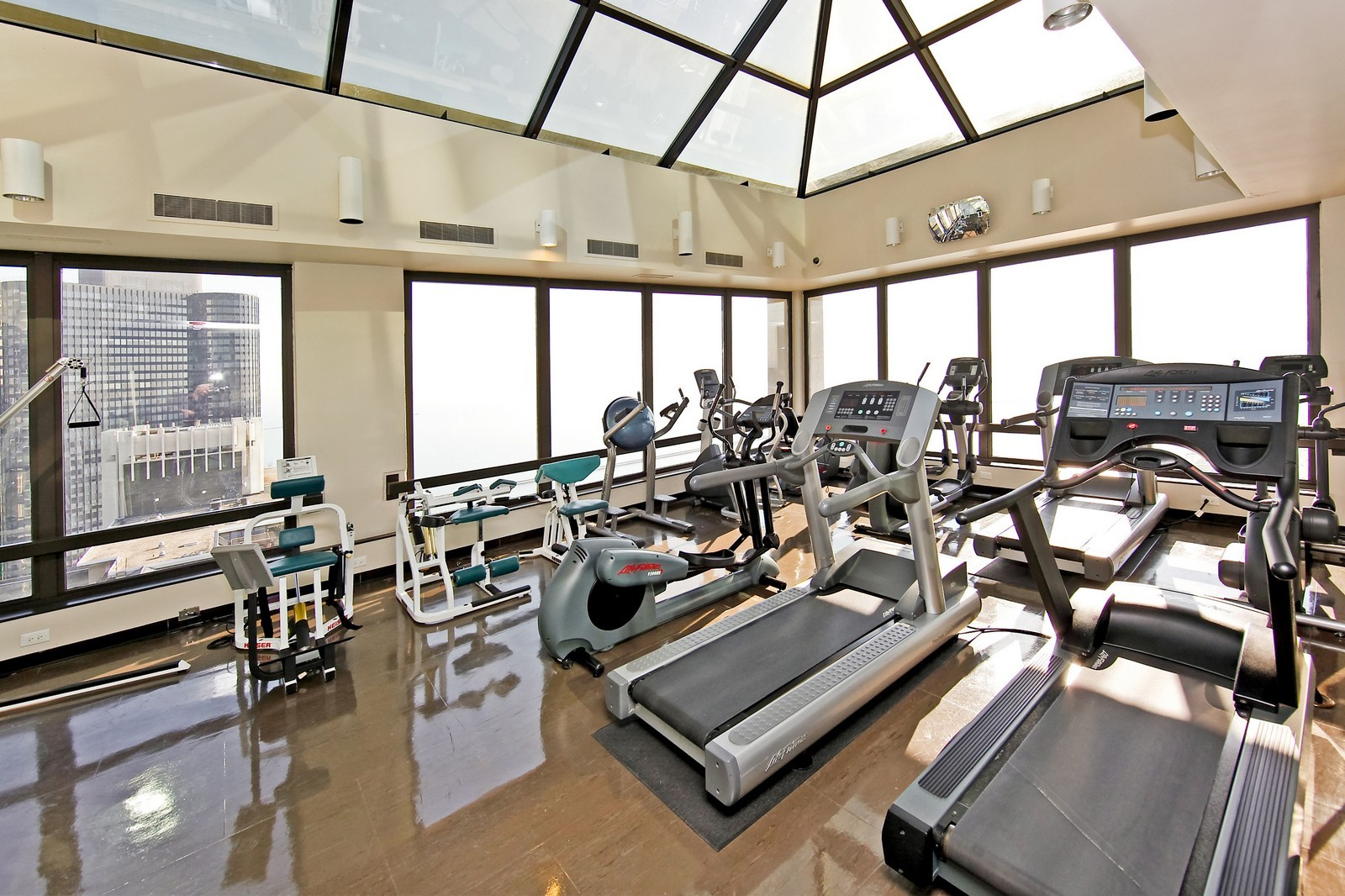 Real Estate Photography - 360 Randolph, Unit 3602, Chicago, IL, 60601 - Fitness Center