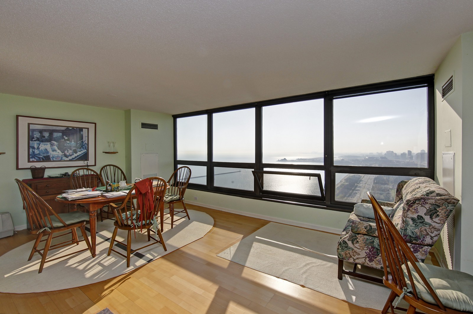 Real Estate Photography - 360 Randolph, Unit 3602, Chicago, IL, 60601 - Living Room / Dining Room