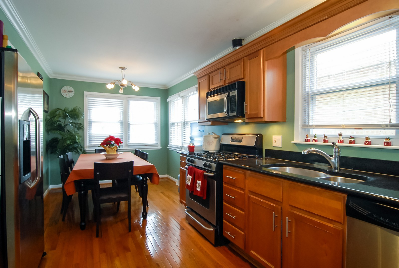 Real Estate Photography - 4435 Keokuk, Chicago, IL, 60630 - Living Room / Dining Room