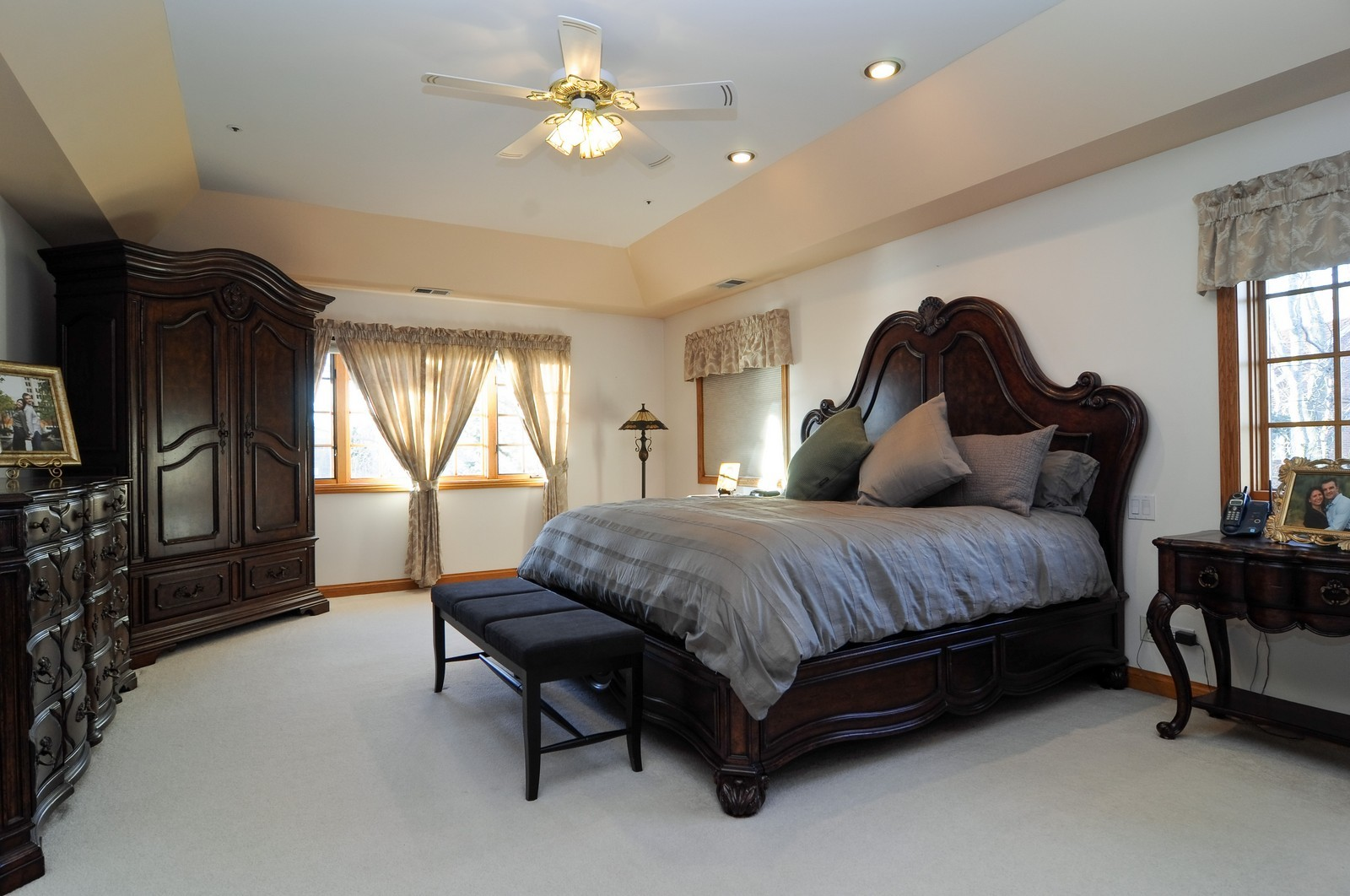 Real Estate Photography - 1181 Fairview Ln, Long Grove, IL, 60047 - Master Bedroom