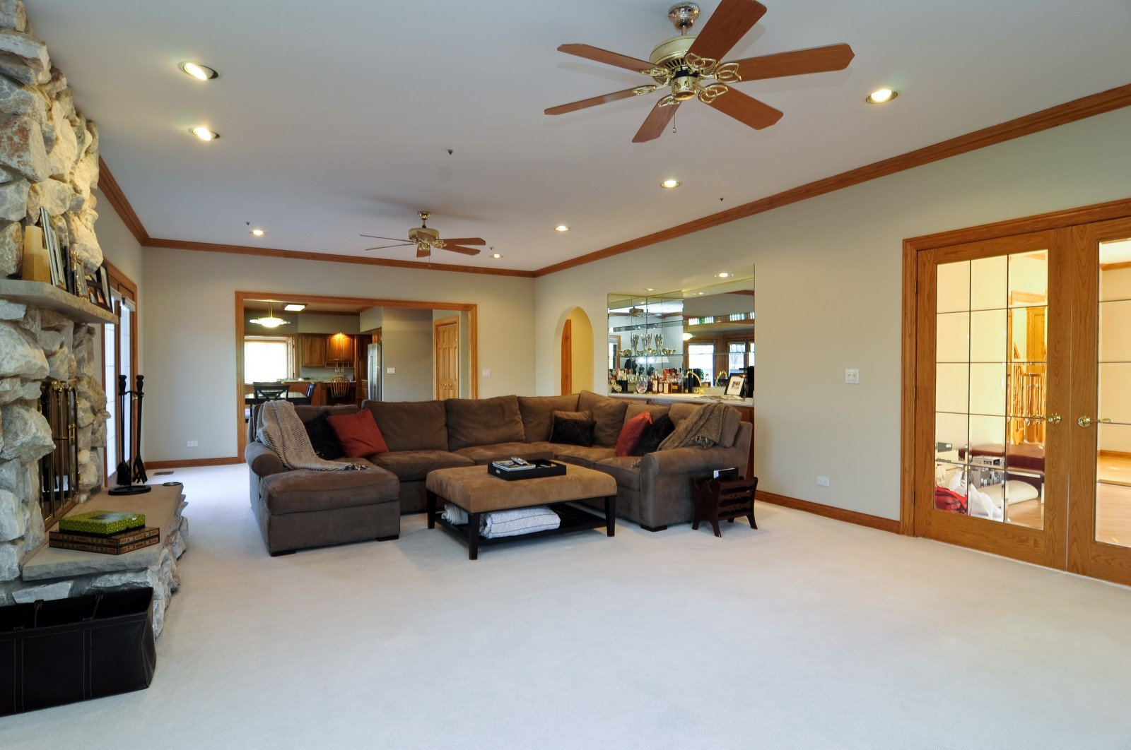 Real Estate Photography - 1181 Fairview Ln, Long Grove, IL, 60047 - Family Room / Kitchen