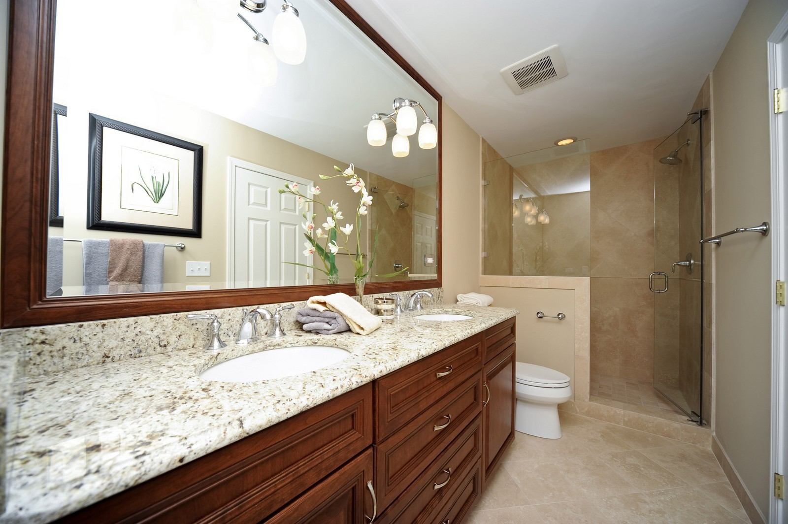 Real Estate Photography - 251 Grandview Ave., Glen Ellyn, IL, 60137 - Master Bathroom