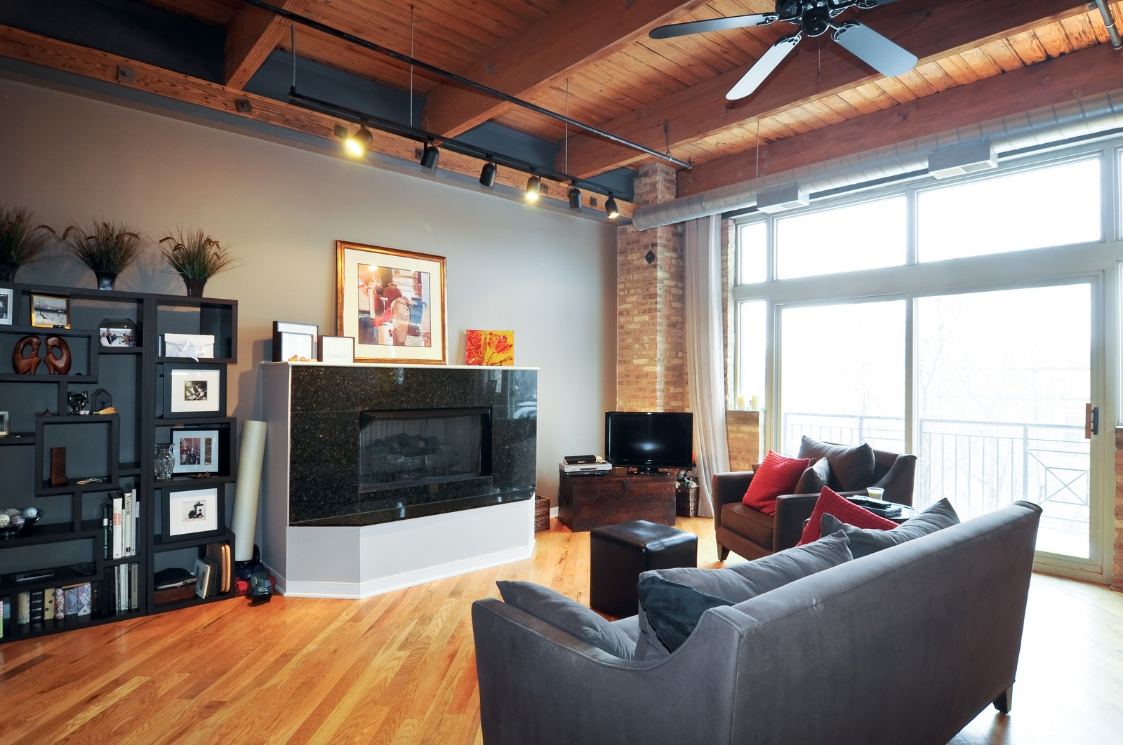 Real Estate Photography - 3900 N Claremont, Unit 205, Chicago, IL, 60618 - Living Room