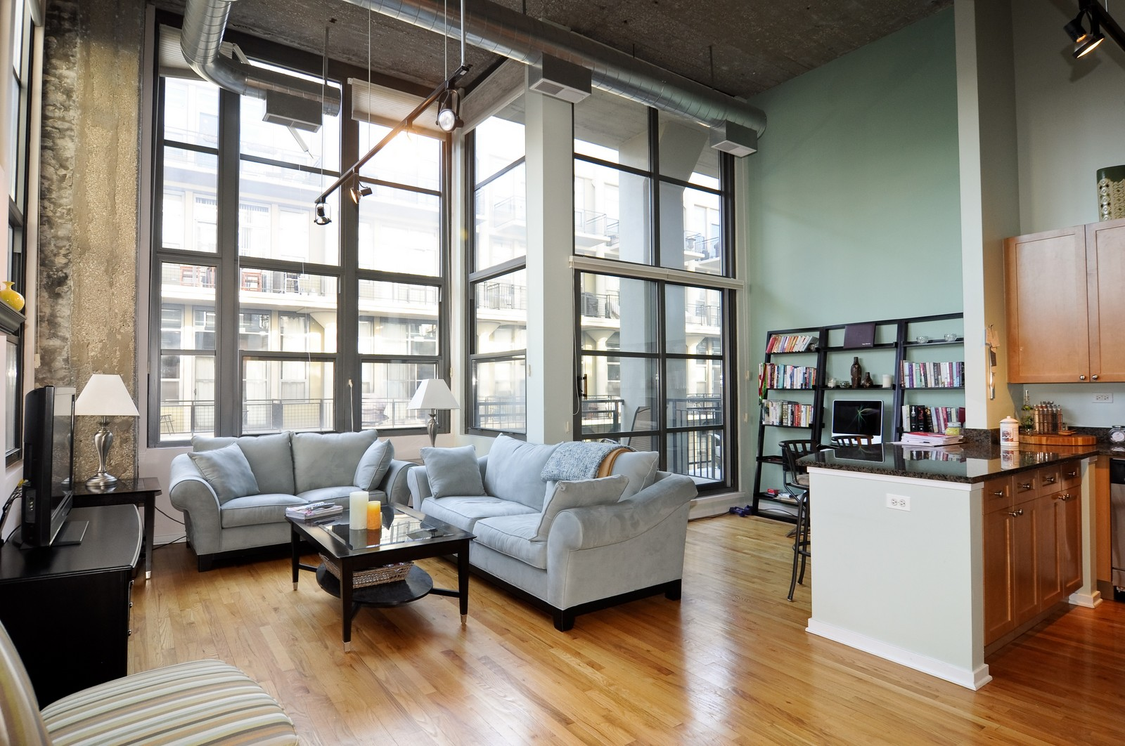 Real Estate Photography - 900 N Kingsbury, Unit 969, Chicago, IL, 60654 - Living Room