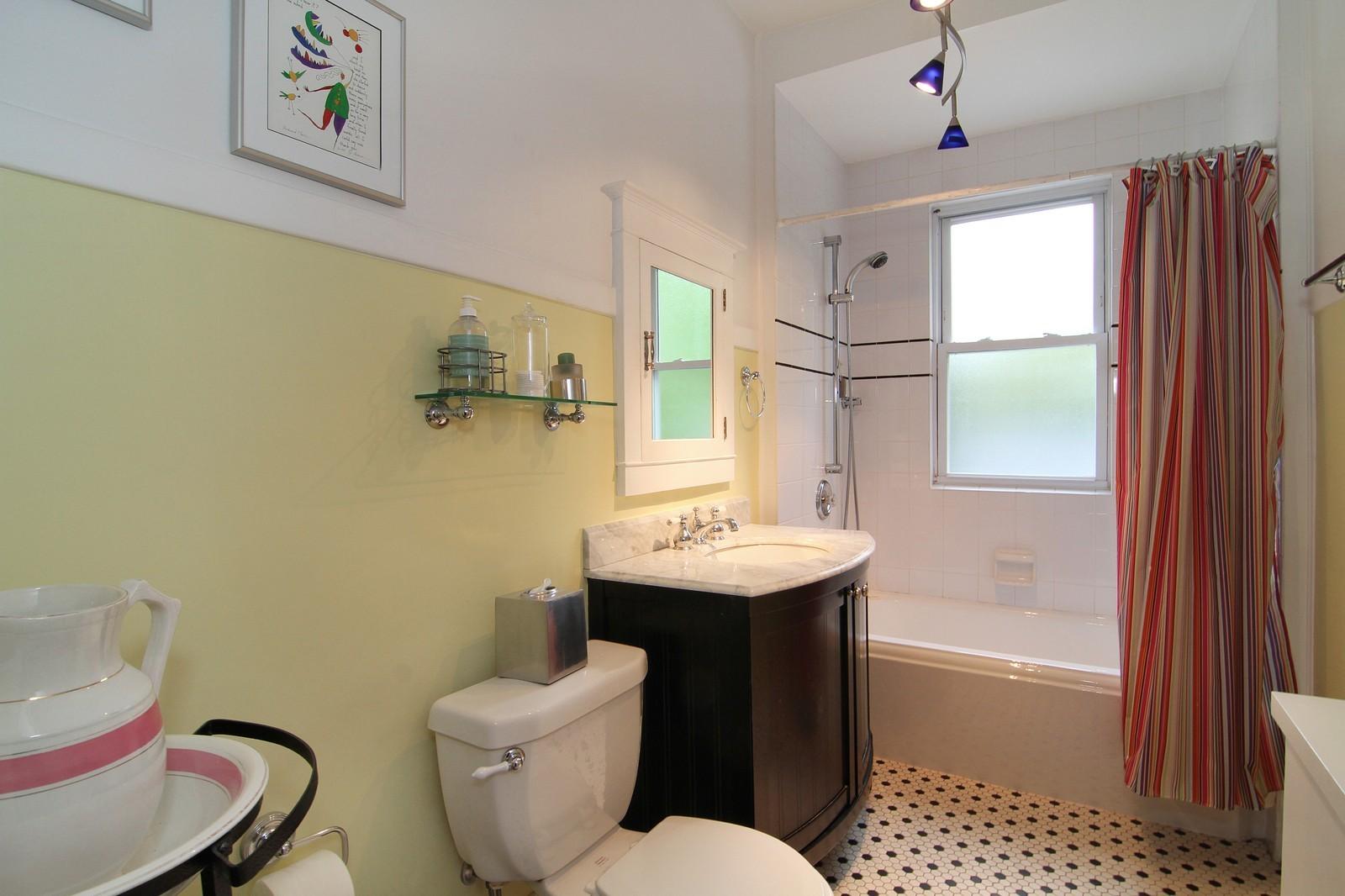 Real Estate Photography - 228 LaGrange Rd, La Grange, IL, 60525 - 2nd Bathroom