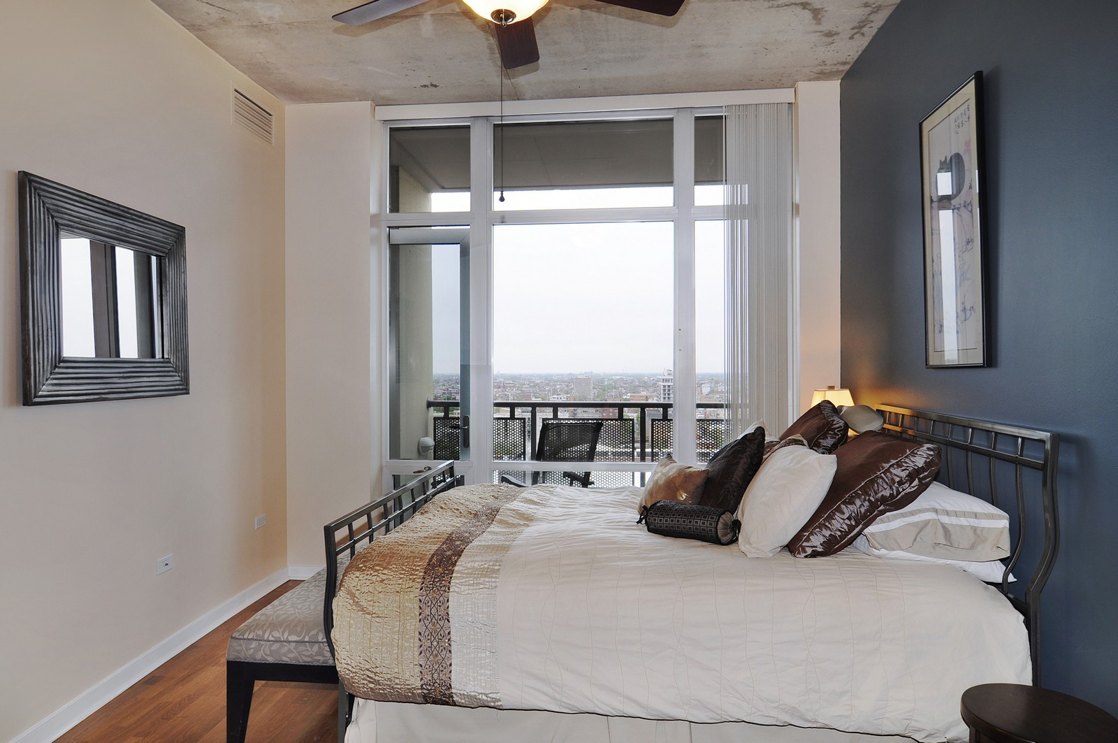 Real Estate Photography - 720 N Larrabee, Apt 1610, Chicago, IL, 60654 - Master Bedroom