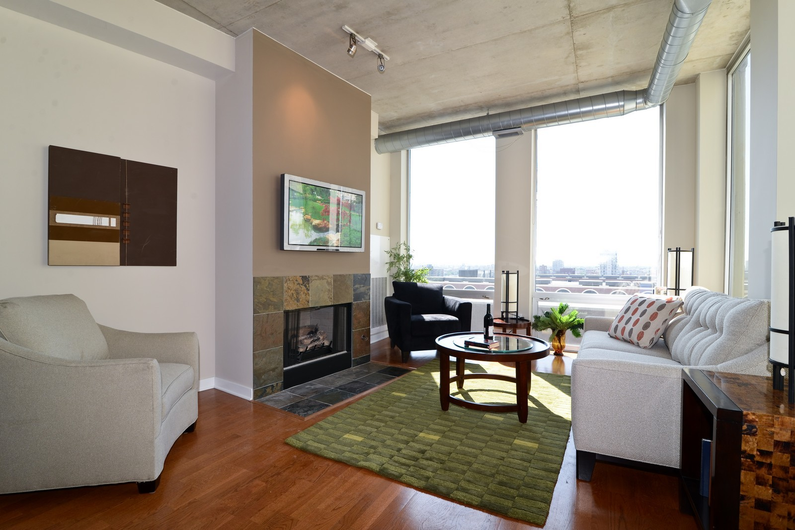 Real Estate Photography - 720 N Larrabee, Apt 1013, Chicago, IL, 60654 - Living Room