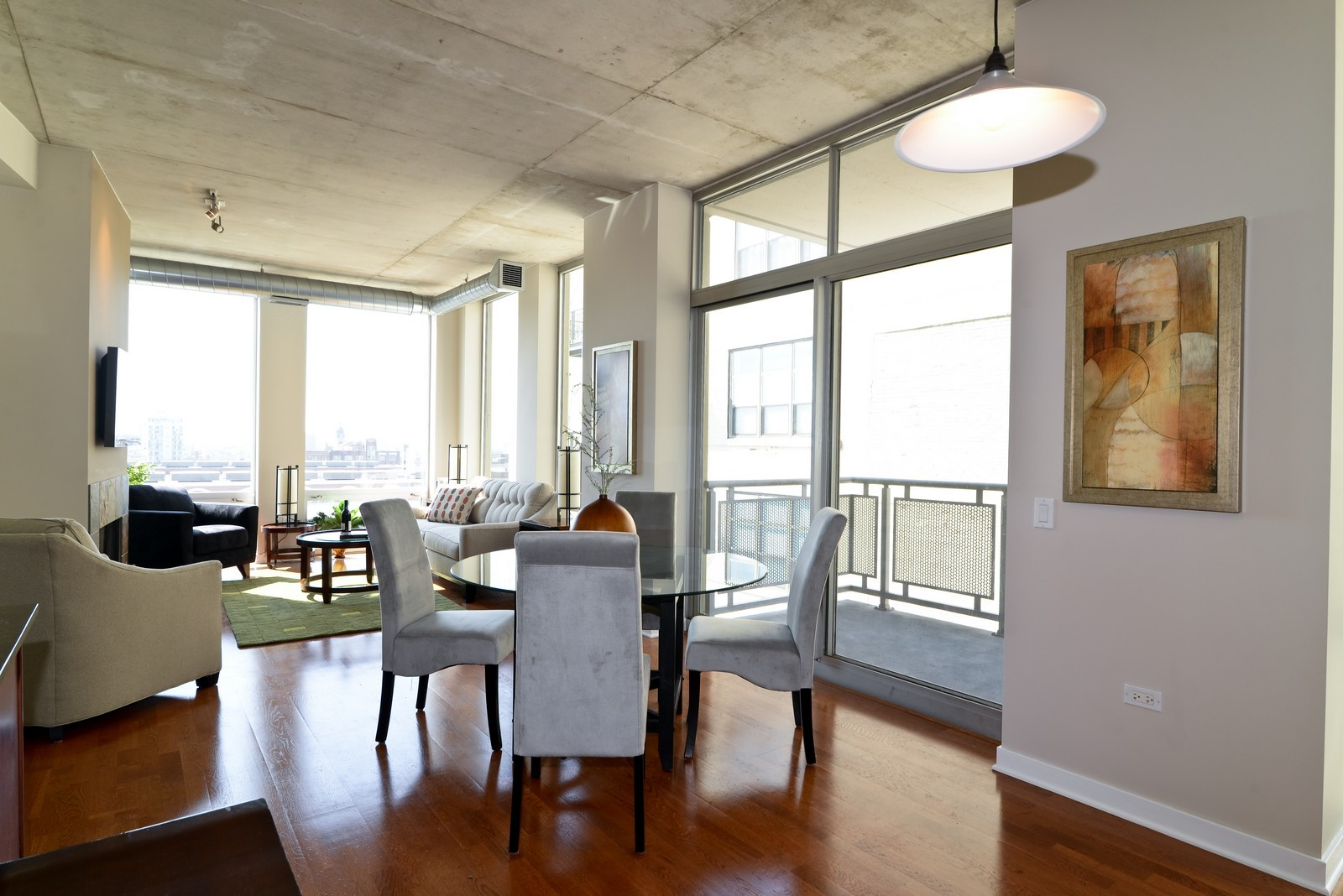 Real Estate Photography - 720 N Larrabee, Apt 1013, Chicago, IL, 60654 - Living Room / Dining Room