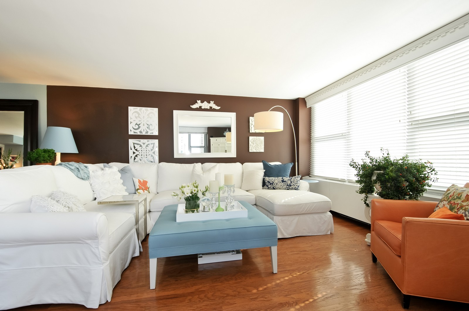 Real Estate Photography - 777 N Michigan Ave, Unit 701, Chicago, IL, 60611 - Living Room