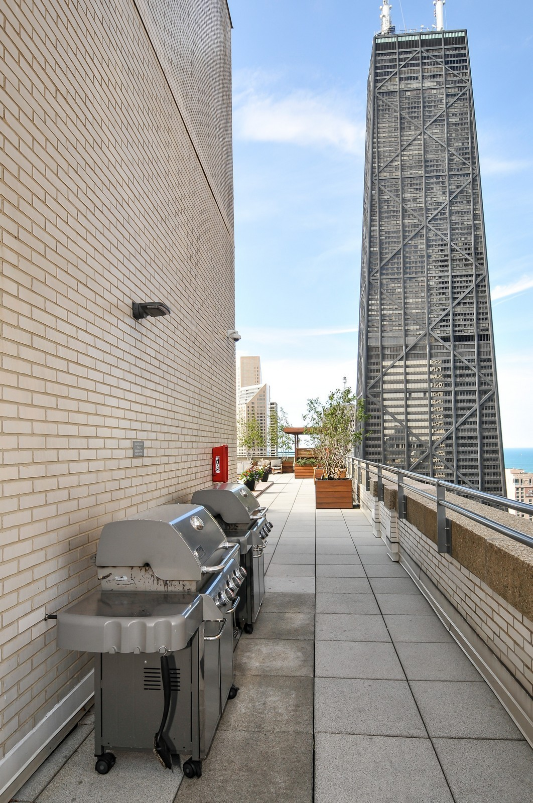 Real Estate Photography - 777 N Michigan Ave, Unit 701, Chicago, IL, 60611 - Roof Deck