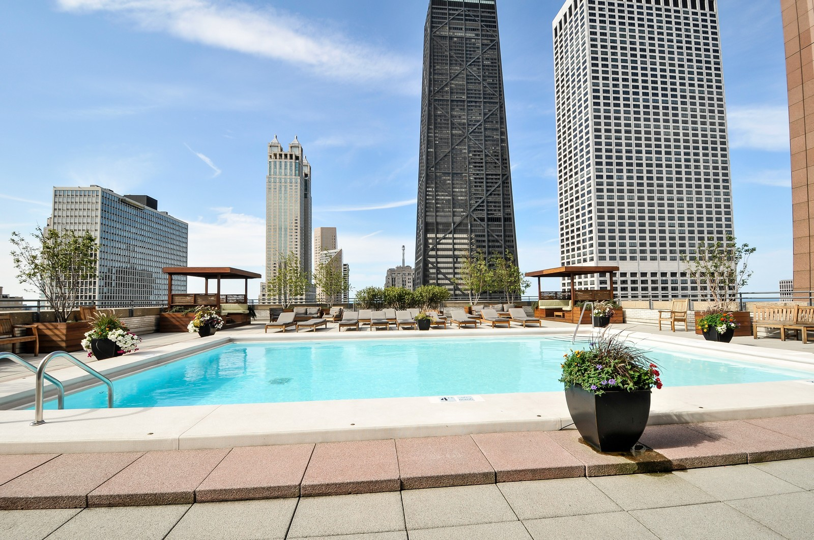 Real Estate Photography - 777 N Michigan Ave, Unit 701, Chicago, IL, 60611 - Pool
