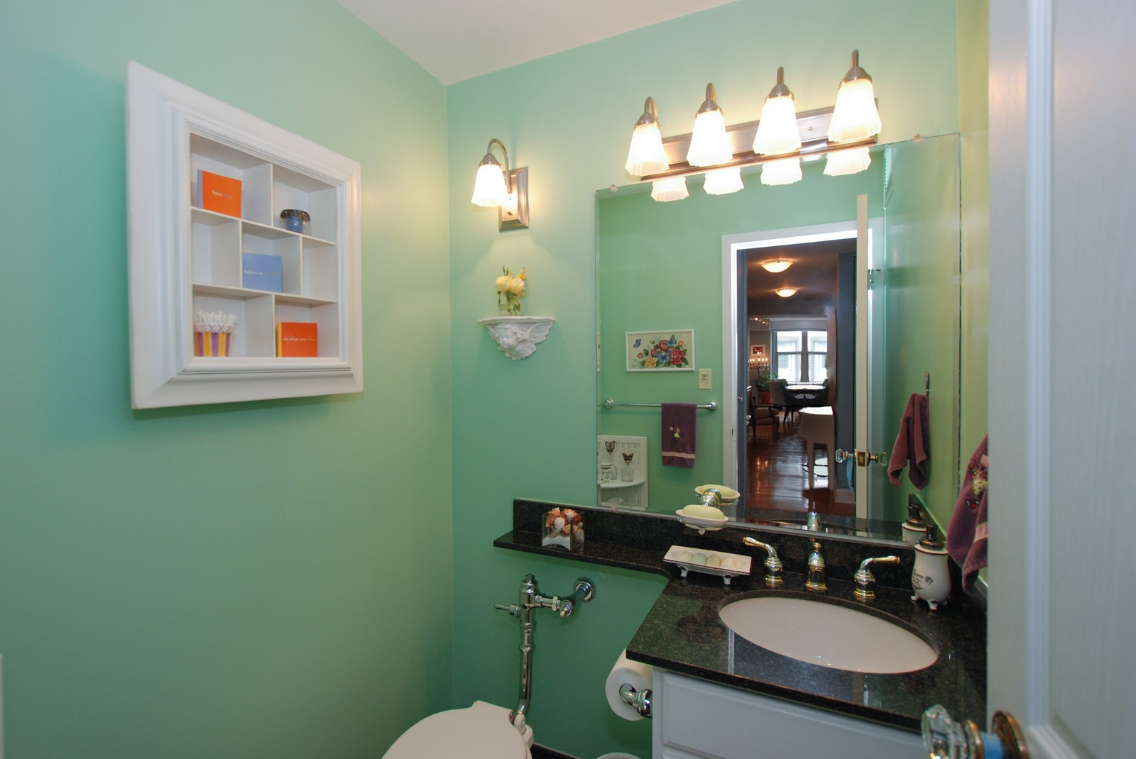 Real Estate Photography - 777 N Michigan Ave, Unit 701, Chicago, IL, 60611 - Powder Room