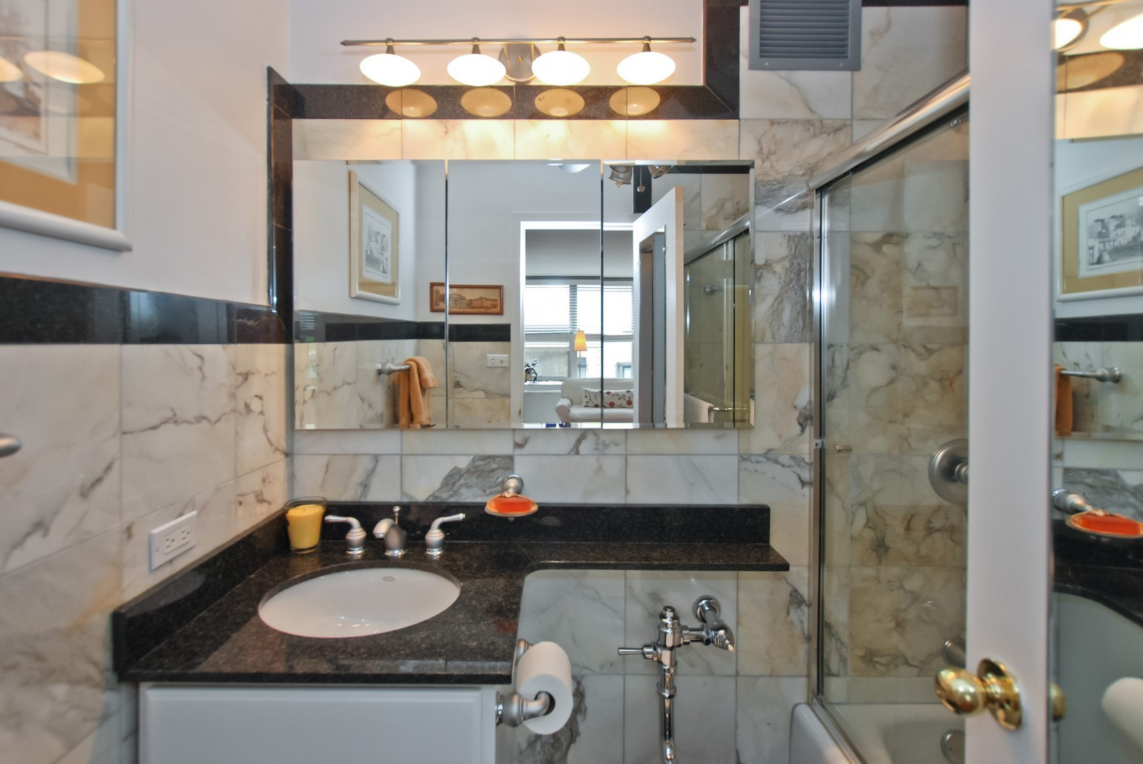 Real Estate Photography - 777 N Michigan Ave, Unit 701, Chicago, IL, 60611 - 2nd Bathroom