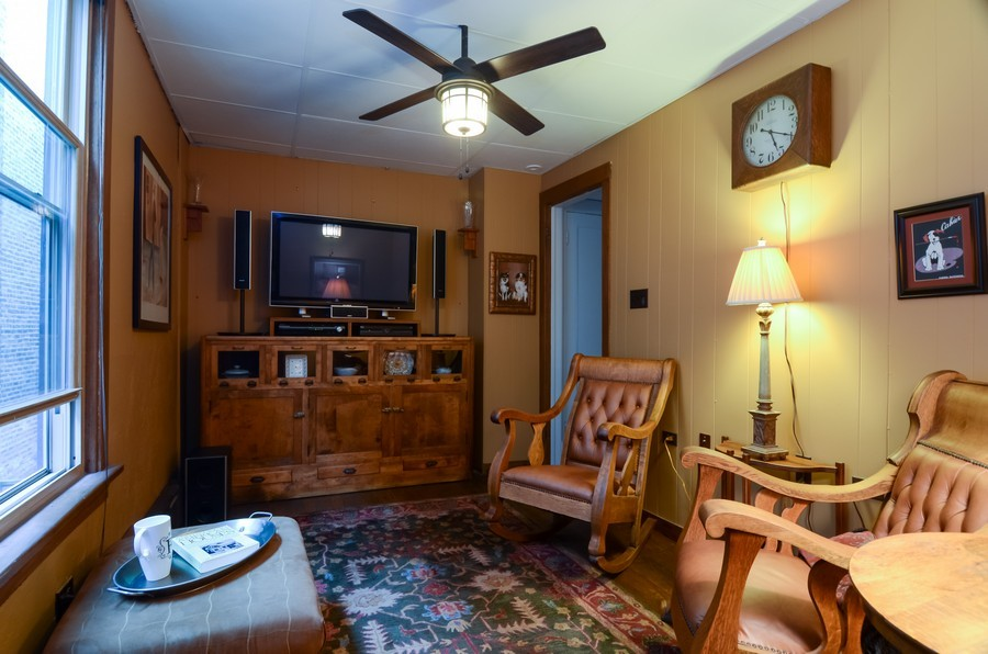 Real Estate Photography - 2201 W Estes, Chicago, IL, 60645 - Den