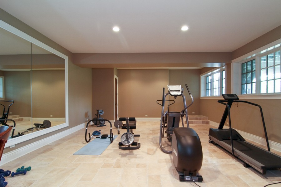 Real Estate Photography - 43 Royal Vale Drive, Oak Brook, IL, 60523 - Fitness Room