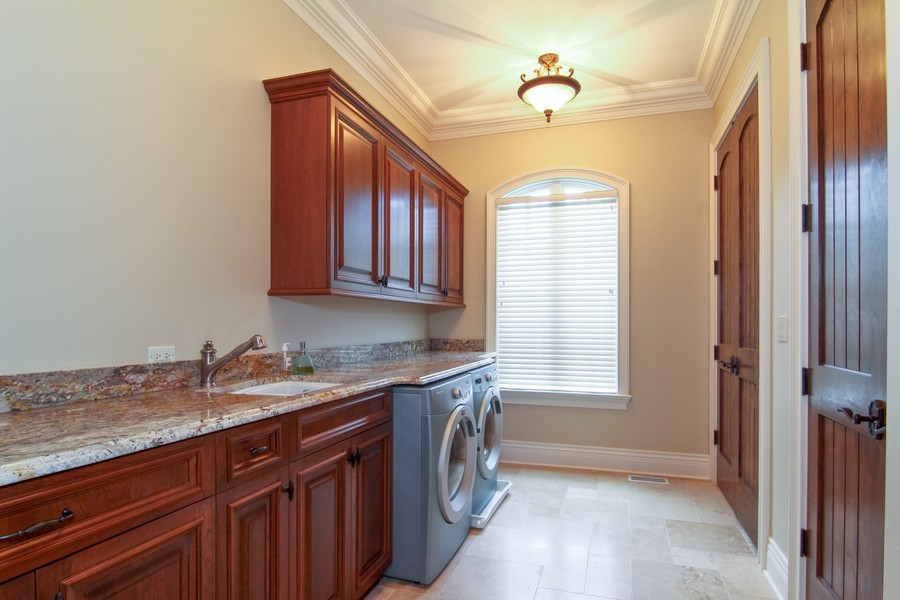 Real Estate Photography - 43 Royal Vale Drive, Oak Brook, IL, 60523 - Laundry Room