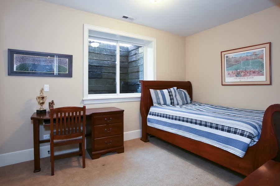 Real Estate Photography - 37 Chestnut, Clarendon Hills, IL, 60514 - 5th Bedroom in Lower Level