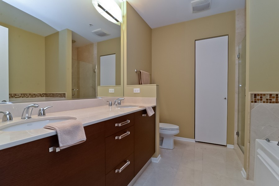 Real Estate Photography - 500 W Superior, Unit 1911, Chicago, IL, 60654 - Master Bathroom
