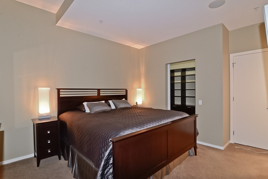Real Estate Photography - 500 W Superior, Unit 1911, Chicago, IL, 60654 - Master Bedroom