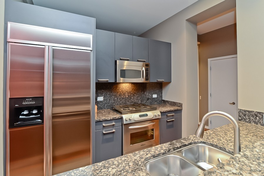 Real Estate Photography - 500 W Superior, Unit 1911, Chicago, IL, 60654 - Kitchen