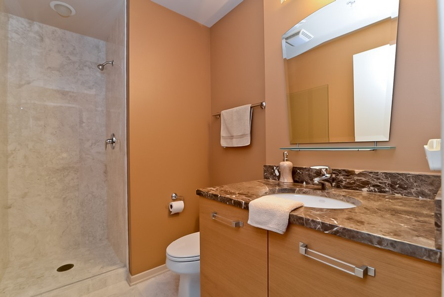 Real Estate Photography - 500 W Superior, Unit 1911, Chicago, IL, 60654 - Bathroom