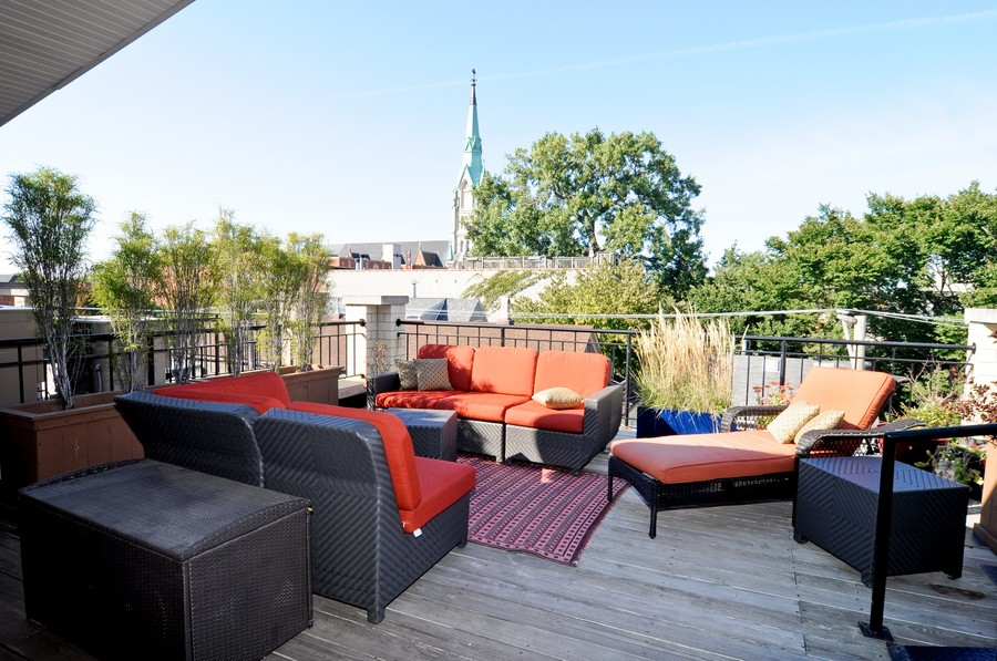 Real Estate Photography - 1346 W George, Unit 3, Chicago, IL, 60657 - Roof Deck