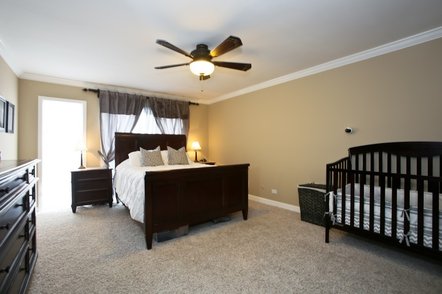 Real Estate Photography - 19W233 Old Tavern Road, 233, Oak Brook, IL, 60523 - Master Bedroom