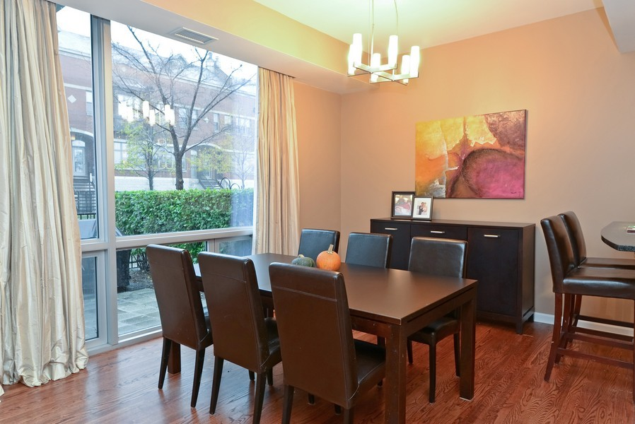 Real Estate Photography - 1841 S Calumet, # 4, Chicago, IL, 60616 - Dining Room