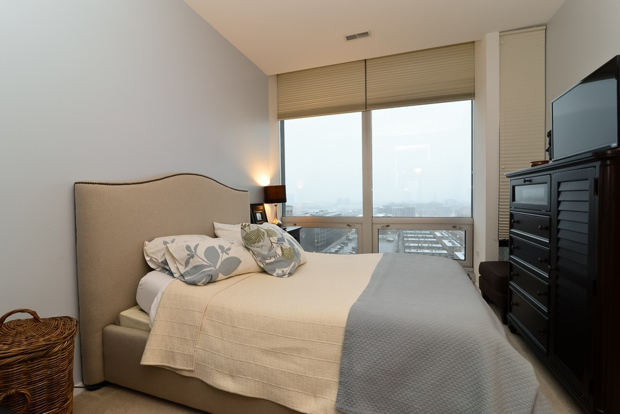 Real Estate Photography - 500 W Superior, Apt 1008, Chicago, IL, 60654 - Master Bedroom