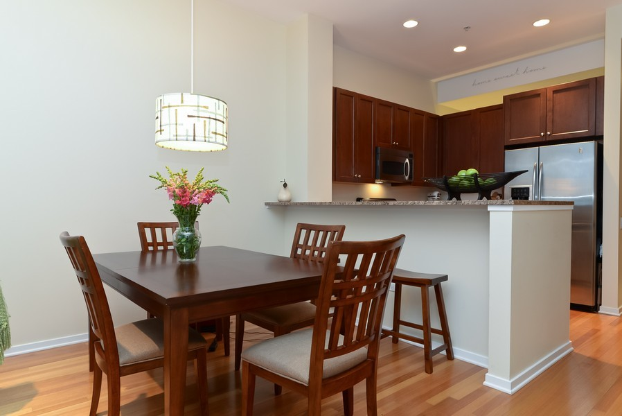 Real Estate Photography - 500 W Superior, Apt 1008, Chicago, IL, 60654 - Dining Room