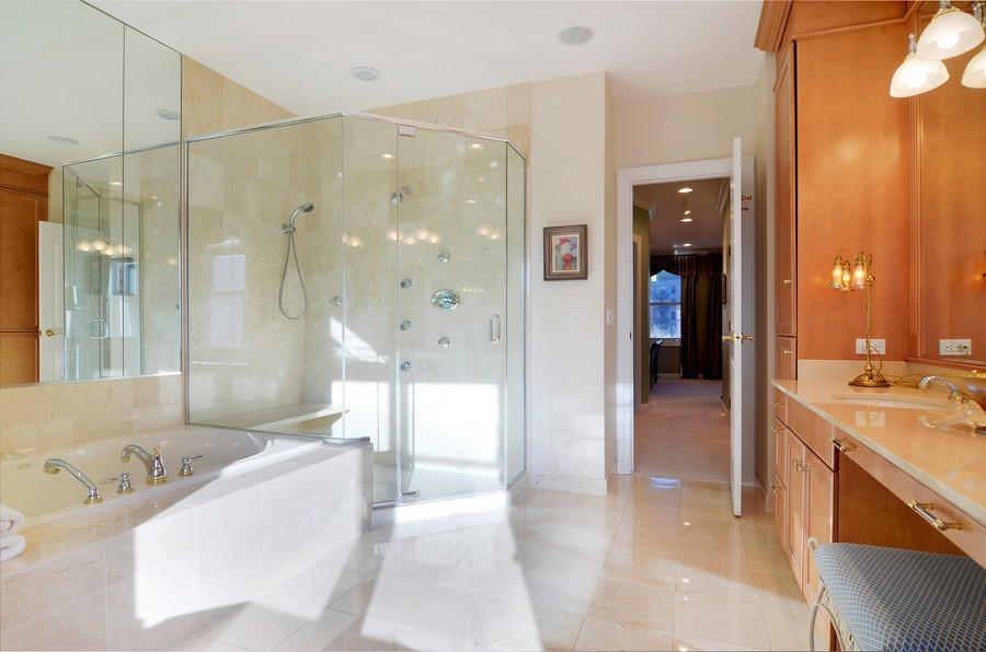 Real Estate Photography - 493 N Canal, Chicago, IL, 60654 - Master Bathroom