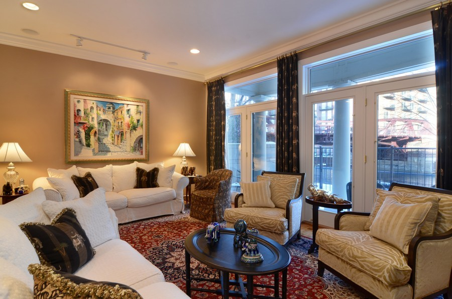 Real Estate Photography - 493 N Canal, Chicago, IL, 60654 - Family Room