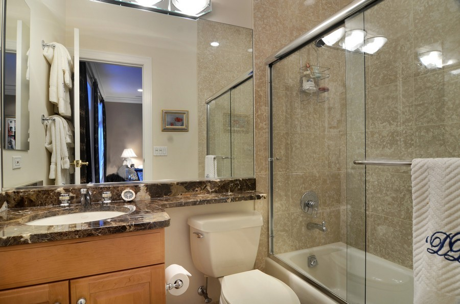 Real Estate Photography - 493 N Canal, Chicago, IL, 60654 - 2nd Bathroom