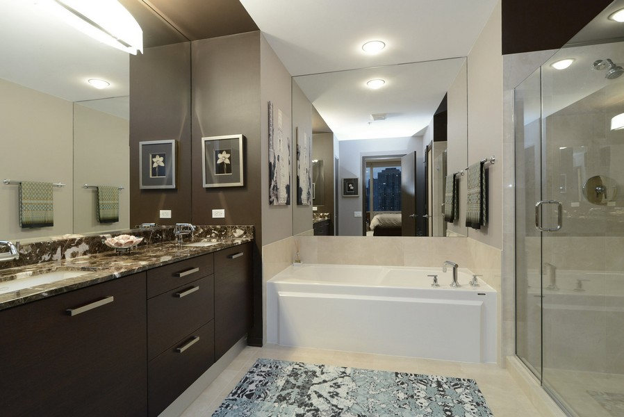 Real Estate Photography - 500 W Superior, Apt 1203, Chicago, IL, 60654 - Master Bathroom