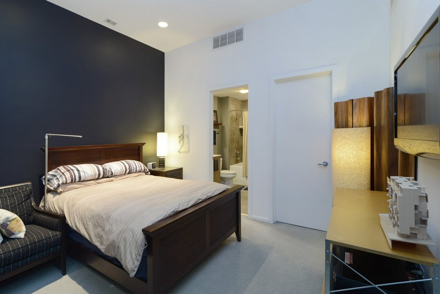 Real Estate Photography - 500 W Superior, Apt 1203, Chicago, IL, 60654 - Bedroom