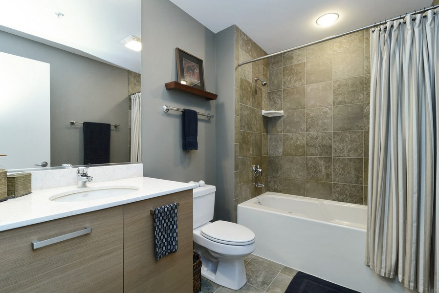 Real Estate Photography - 500 W Superior, Apt 1203, Chicago, IL, 60654 - Bathroom