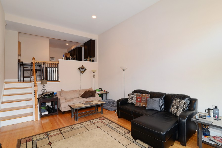 Real Estate Photography - 3734 N Wilson, Apt 1S, Chicago, IL, 60613 - Living Room