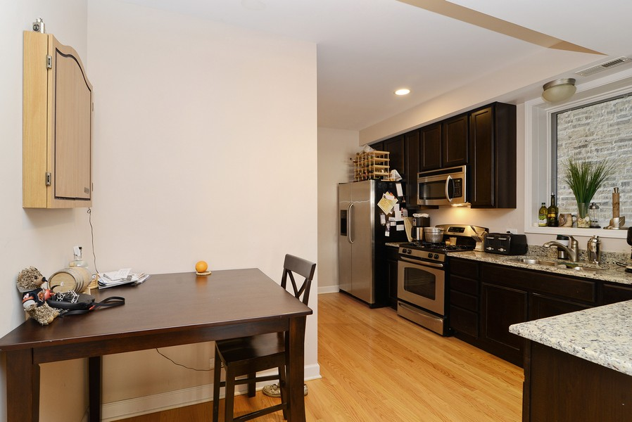 Real Estate Photography - 3734 N Wilson, Apt 1S, Chicago, IL, 60613 - Breakfast Nook