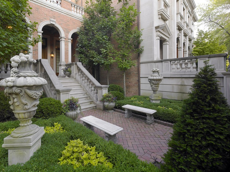 Real Estate Photography - 1955 N Burling, Chicago, IL, 60614 - View of One of the Front Gardens