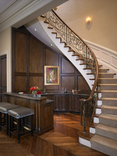 Real Estate Photography - 1955 N Burling, Chicago, IL, 60614 - Grand Salon Bar and Grand Staircase