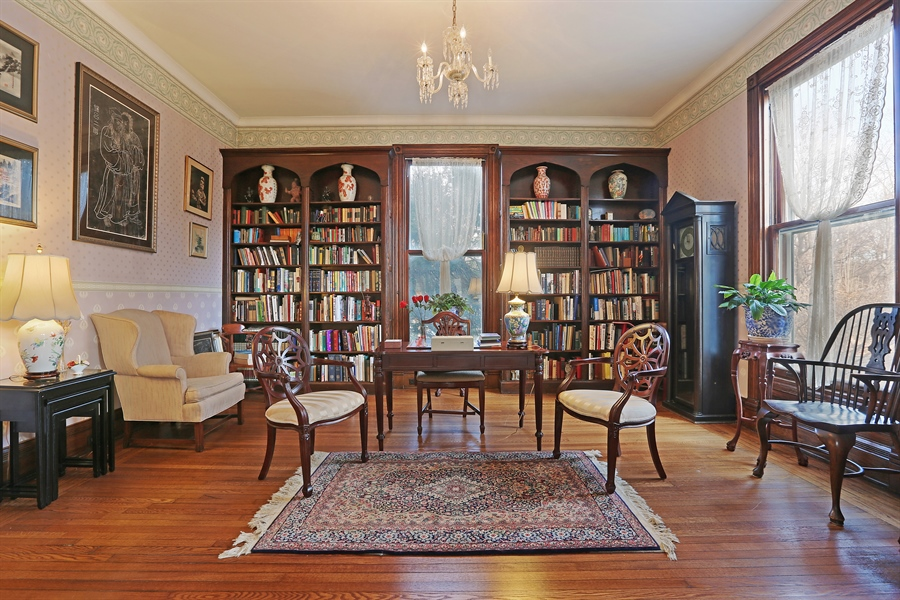 Real Estate Photography - 5324 Turvey Court, Downers Grove, IL, 60515 - Library