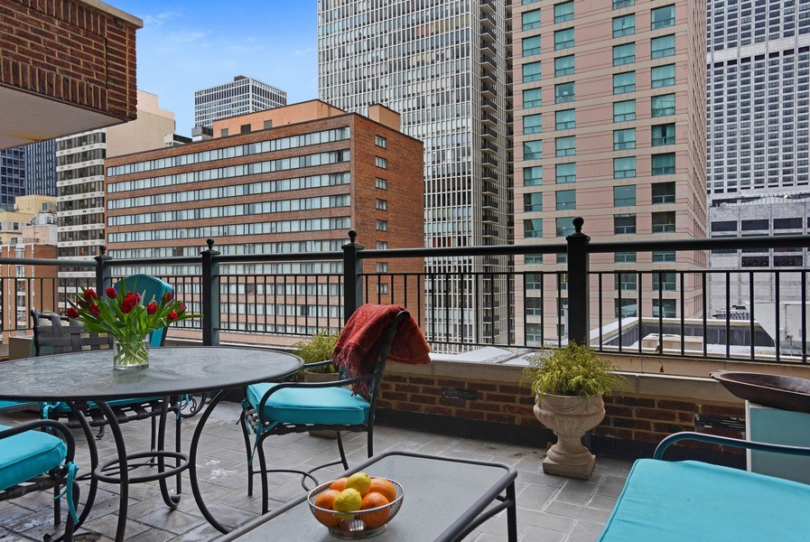 Real Estate Photography - 189 E Lake Shore Dr, Unit 10, Chicago, IL, 60611 - Private Terrace