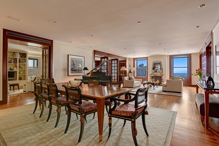 Real Estate Photography - 189 E Lake Shore Dr, Unit 10, Chicago, IL, 60611 - Living / Dining Area