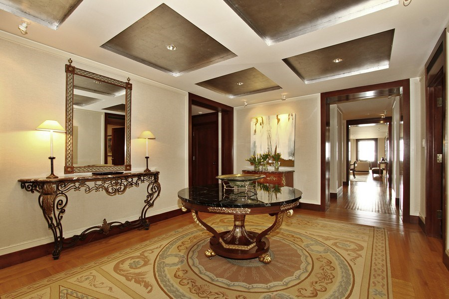 Real Estate Photography - 189 E Lake Shore Dr, Unit 10, Chicago, IL, 60611 - Reception Foyer
