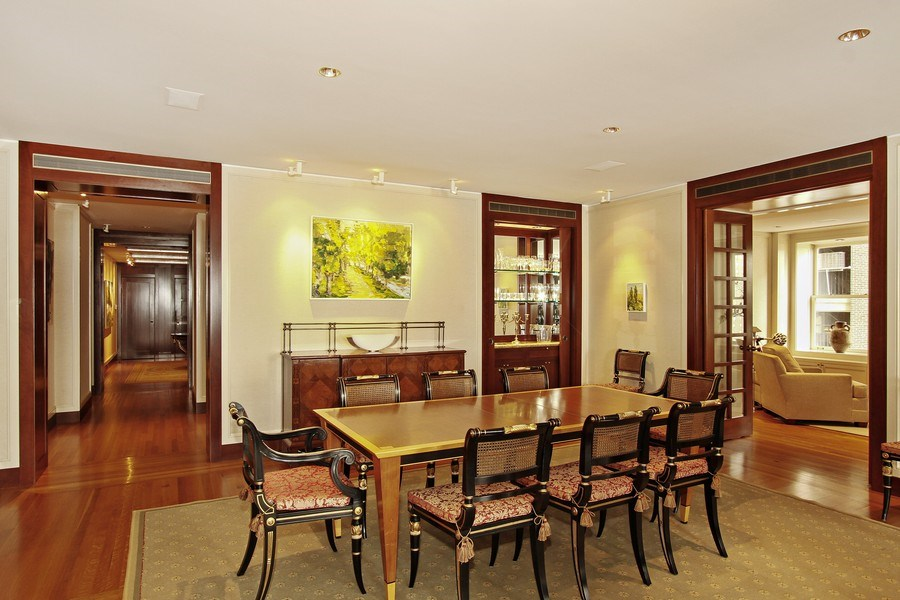 Real Estate Photography - 189 E Lake Shore Dr, Unit 10, Chicago, IL, 60611 - Dining Room